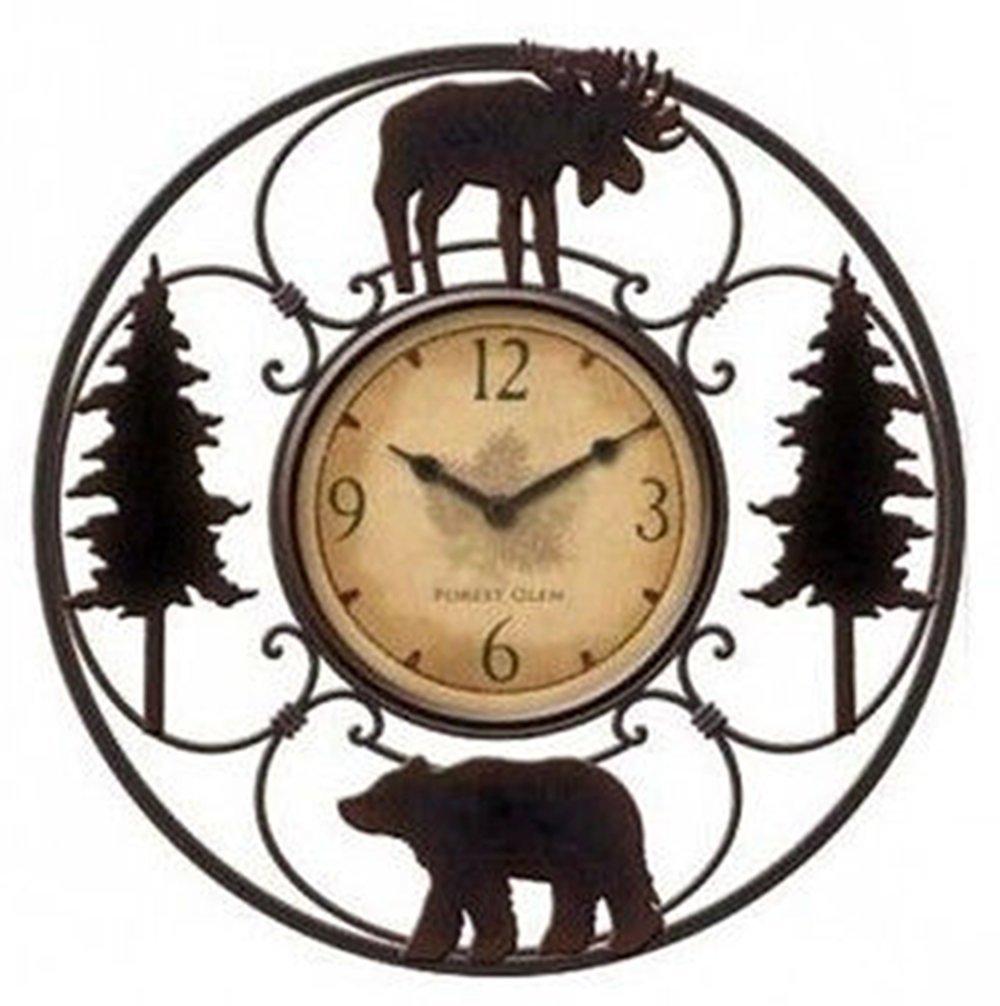 Shop amazon wall clocks wildlife wire wall decoractive clock 11 total diameter 6 clock diameter amipublicfo Choice Image