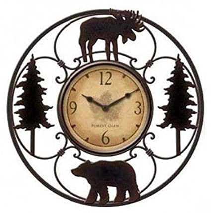 Amazon Com Wildlife Wire Wall Decoractive Clock 11 Total Diameter