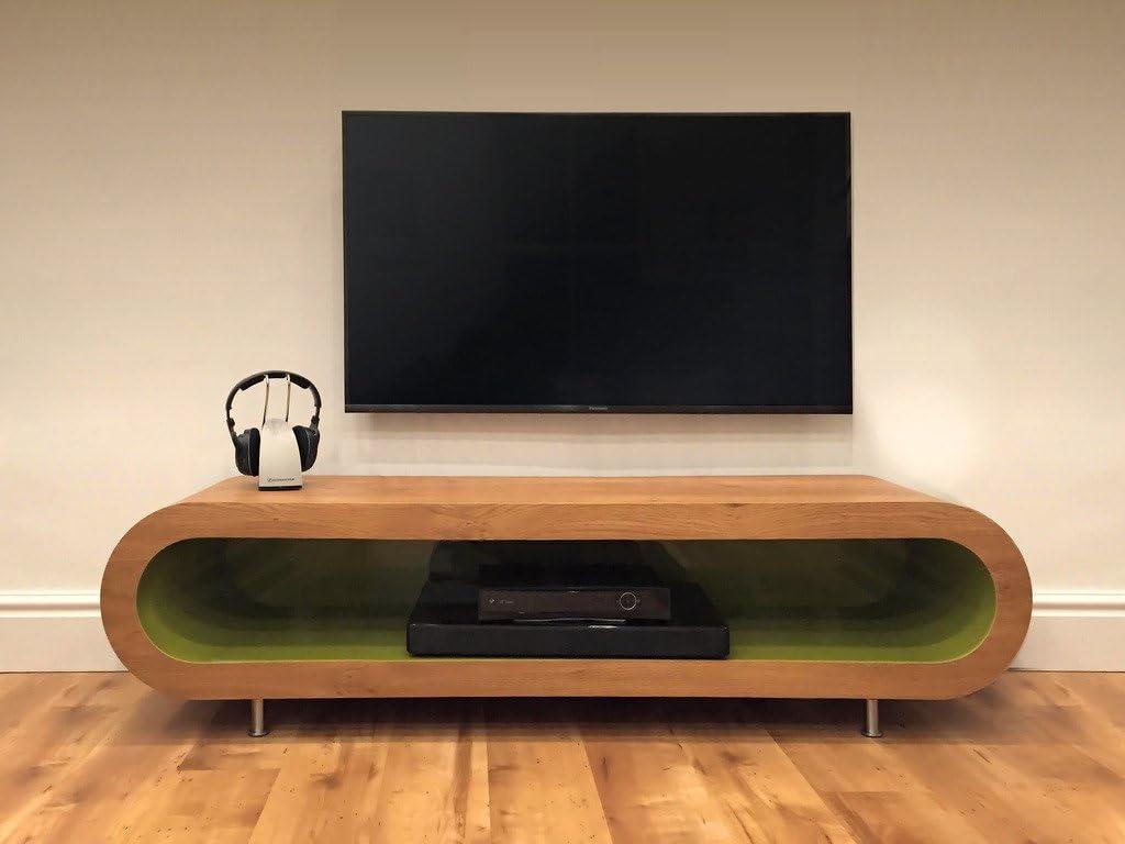 Black Outer ZeStretch TV Stand - Light Grey Gloss Inner Zebrano Gloss