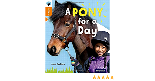 6 Books Collection Set A Pony for a Day Level 6 Oxford Reading Tree inFact