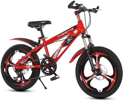 20 pulgadas de velocidad variable bicicleta de montaña, confortable silla, antideslizante del pedal, bicicletas niños, Suspensión Tenedor, seguro y sensible de freno, (Color : Red): Amazon.es: Coche y moto