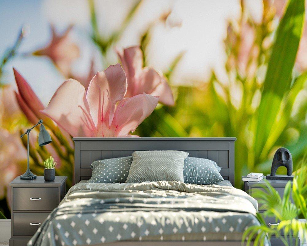 ベッドルーム壁画フラワーベニバナピンクの花景色の風景植物背景の写真3D 研究の壁紙 カスタマイズサイズ シルク生地 Wapel 310X200Cm(122.05X78.74 In) B07DK2HYL4 310x200cm(122.05x78.74 in)