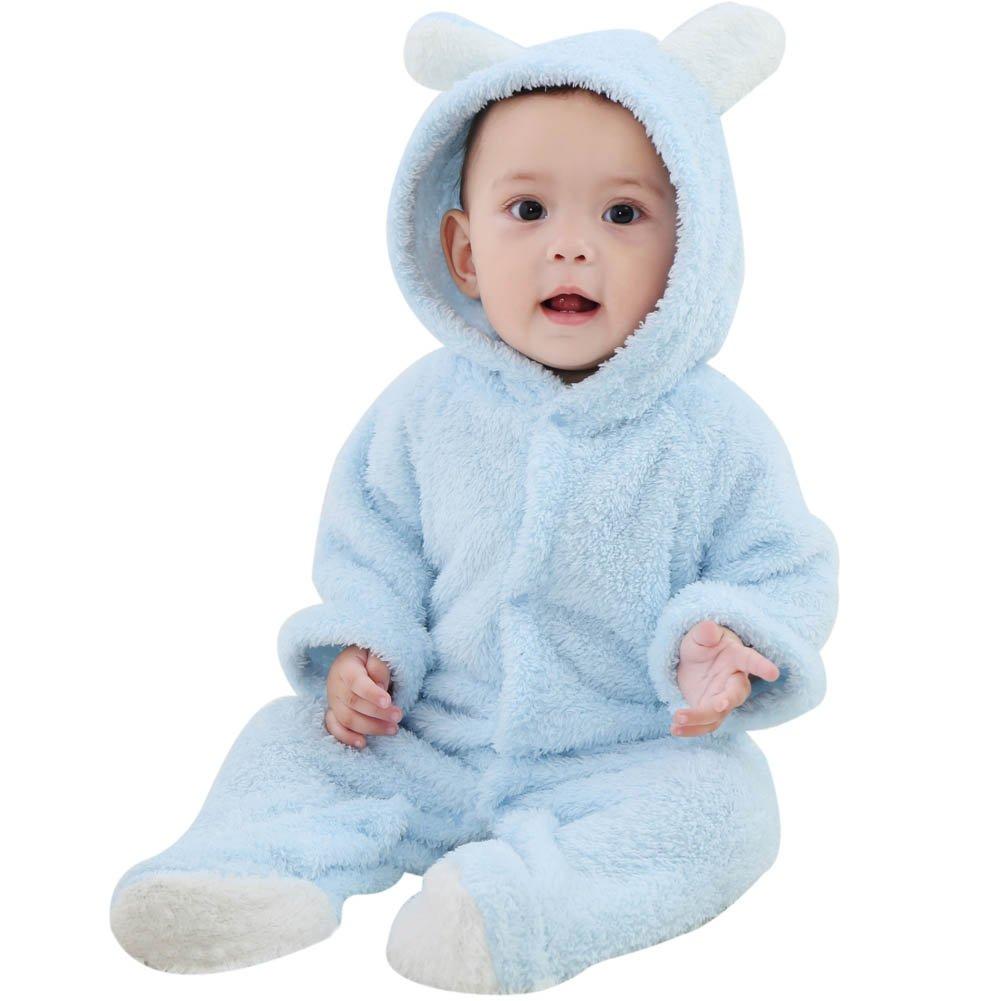 b539bd984c2b Amazon.com  ESHOO Newborn Baby Animal Romper Jumpsuit Snowsuit ...
