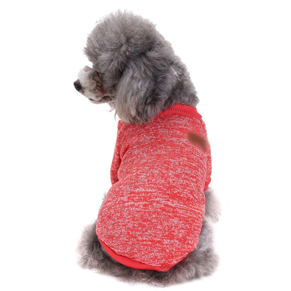 YiJee Cachorro Perro Navidad Suéter Invierno Cálido Ropa de Punto Mascota Pink XS