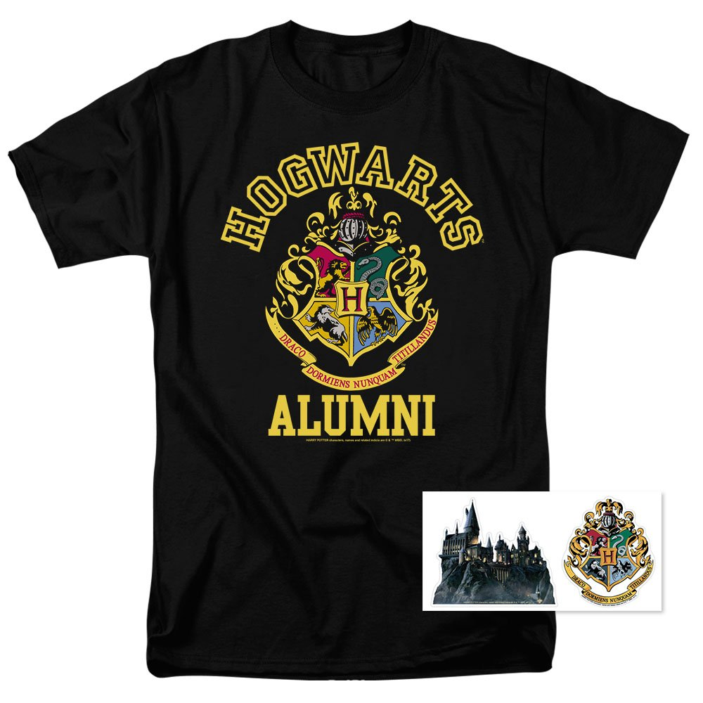 Popfunk Harry Potter Hogwarts Alumni T Shirt (XXXXX-Large) Black