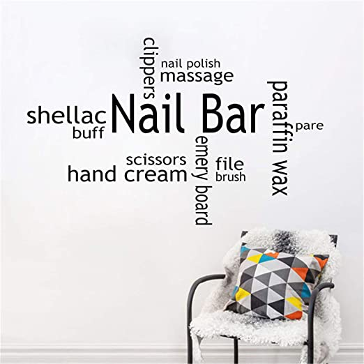Amazon Com Ssenao Nail Bar Wall Decal Girls Beauty For Nail Salon Beauty Salon Quotes Wall Decor Stickers Home Kitchen