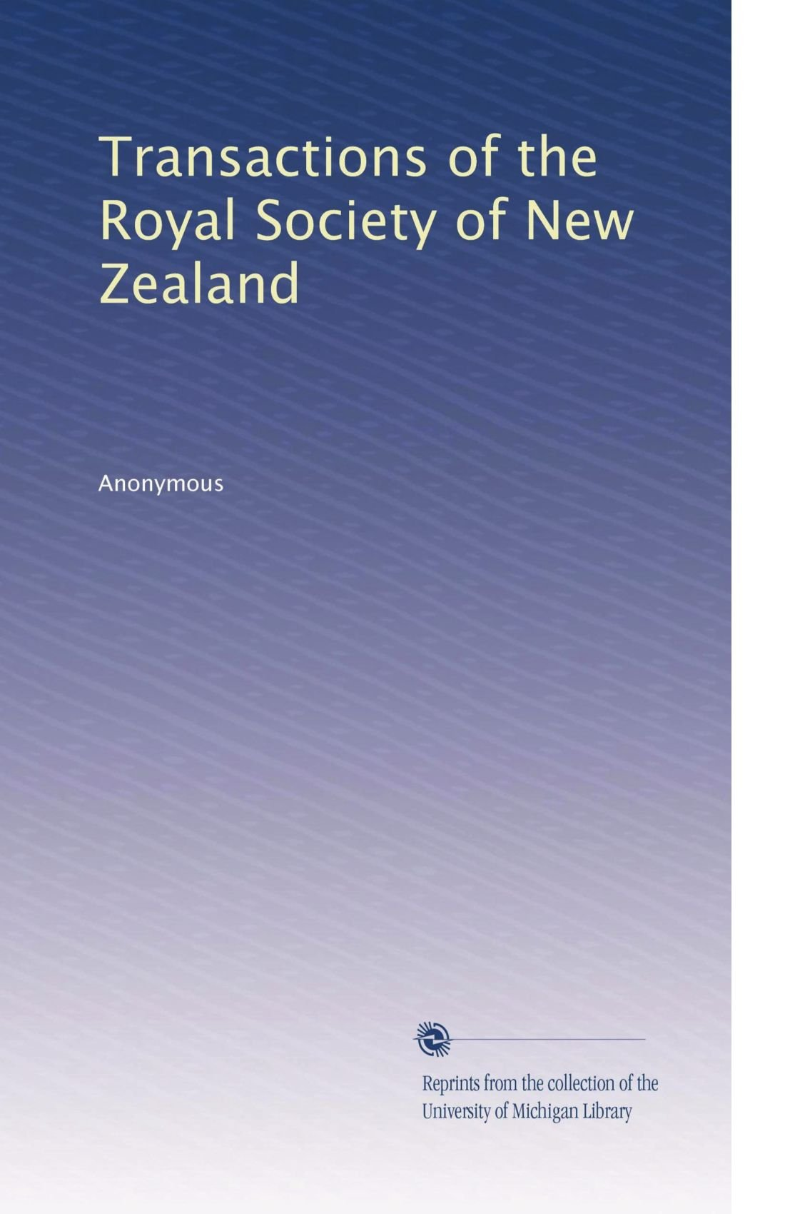 Transactions of the Royal Society of New Zealand (Volume 24) PDF