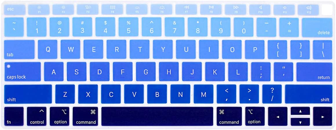 ProElife Blue Gradient Keyboard Cover Ultra Thin Silicone Keyboard Protective Skin for MacBook Air 13