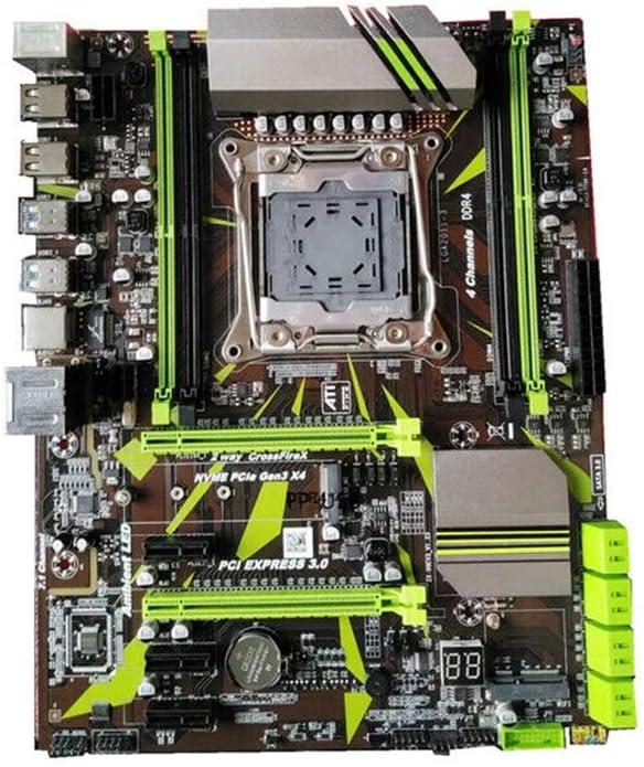 Rockrok Motherboard LGA 2011-V3 X99 Motherboard 4 Channel DDR4 Motherboard Module Desktop Computer for Desktop Computer