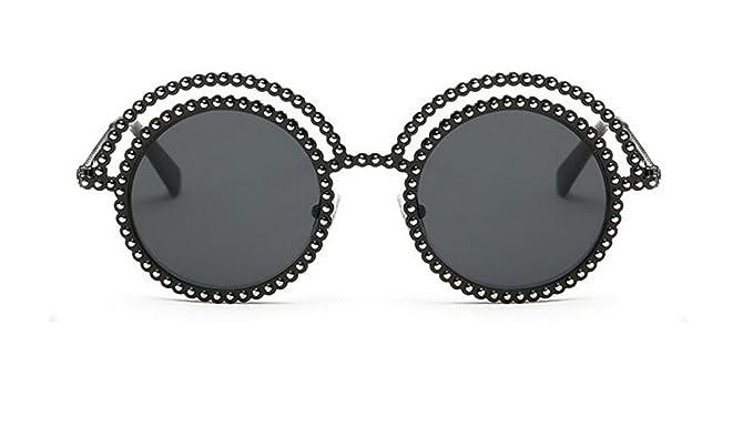 La Sra Personalidad De La Moda Con Cuentas Circulares Gafas ...