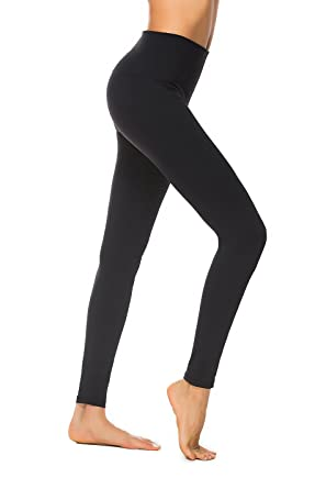 7f7925ad90b Charaland Womens Yoga Pants Tight High Waist Yoga Leggings Foldover Workout  Pants Tall Power Flex Sports
