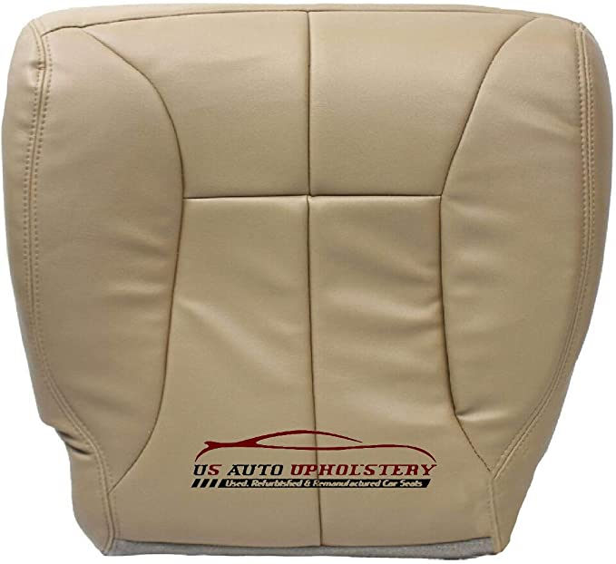 02 03-05 Dodge Ram 1500 2500 3500 Driver Bottom Leather Seat Cover Dark Gray