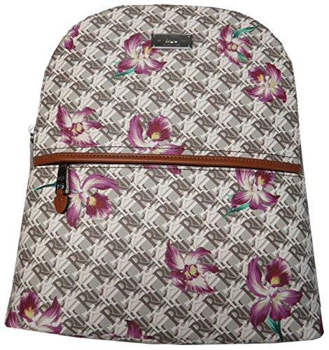 Lauren Ralph Lauren Belknap Faux Leather Backpack (One Size, Naturalwhiteorchid)
