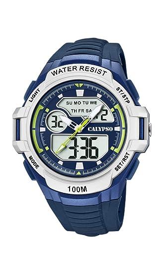 Calypso Watches Reloj Analógico-Digital para Hombre de Cuarzo con Correa en Plástico K5770/3: Amazon.es: Relojes