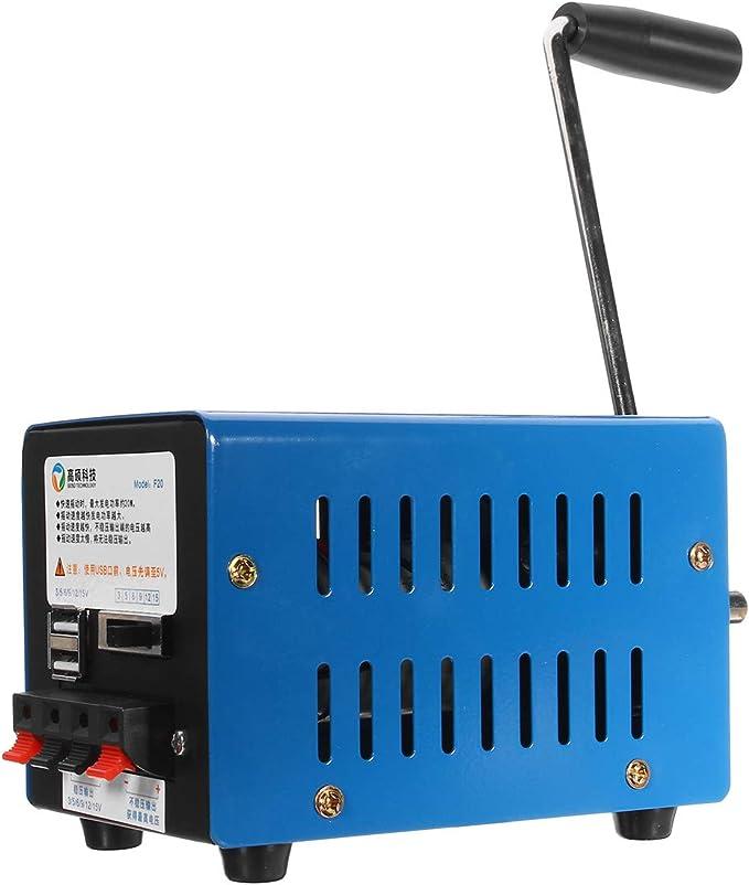 Handkurbel-angetriebener Stromgenerator Mechanische Notstromversorgung elektrische Pr/üfung Mechanischer Dynamo Handkurbel-Generator