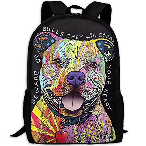 (ESA-loving Pit Bulls Laptop Backpack, Travel Computer Bag For Women & Men, Anti Theft Water Resistant College School Bookbag For Girls & Boys)