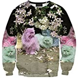 Girl's Printed Dyed Cats Sweatshirt Crewneck Pullover Long - Best Reviews Guide