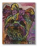 Dean Russo Chloe Bear Printed on 11x14 Wood Pallet Slats Wall Art Sign Plaque Distressed Design
