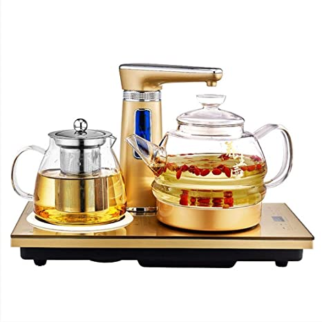 YOIL Taza de té con Estilo 1L Tetera de Vidrio Transparente ...