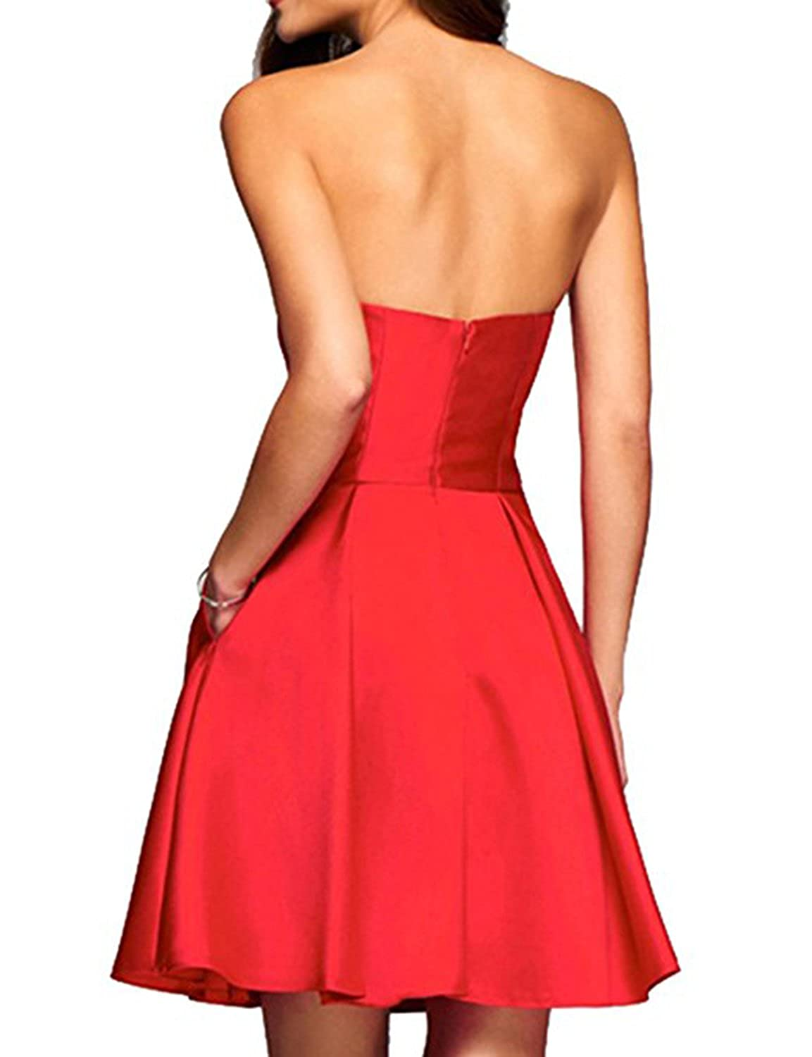 Udresses Womens 2018 Short Prom Dress Pocket Elegant Homecoming Party Gown PO53 at Amazon Womens Clothing store:
