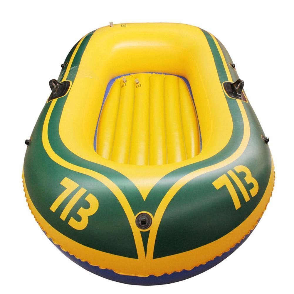BleuMoo Thicken 2 Person Inflatable Dinghy Kayak Rubber Boat Angling Boat Canoeing
