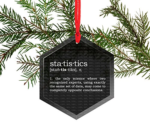 Funny Christmas Statistics - Statistics Definition Funny Glass Christmas Ornament
