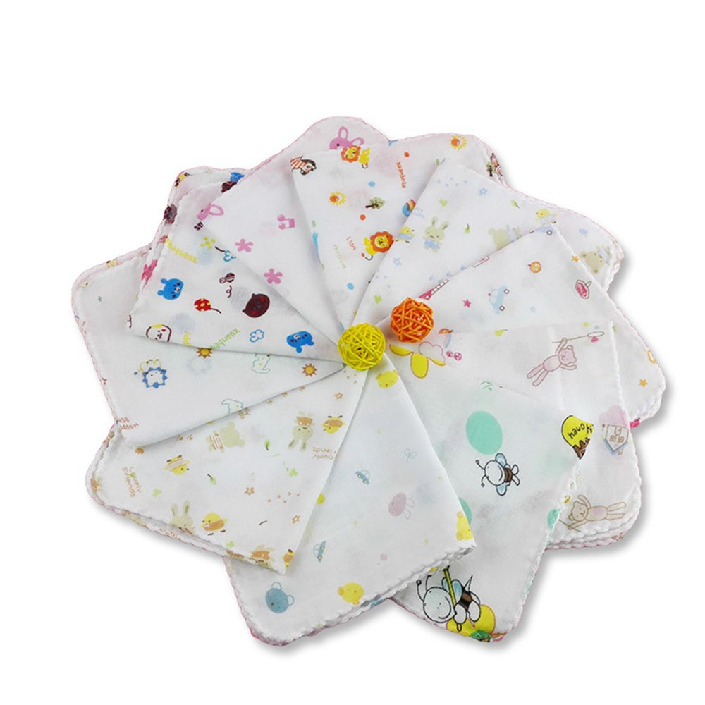 "15-pack 12""x12 Baby Muslin Washcloths set and Towels 100% Natural Cotton Bib Handkerchief Yafly"