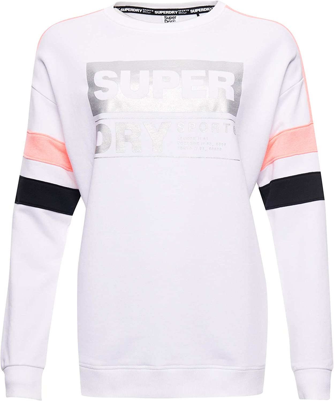 Superdry Damen Streetsport Sweatshirt Mit Rundhalsausschnitt