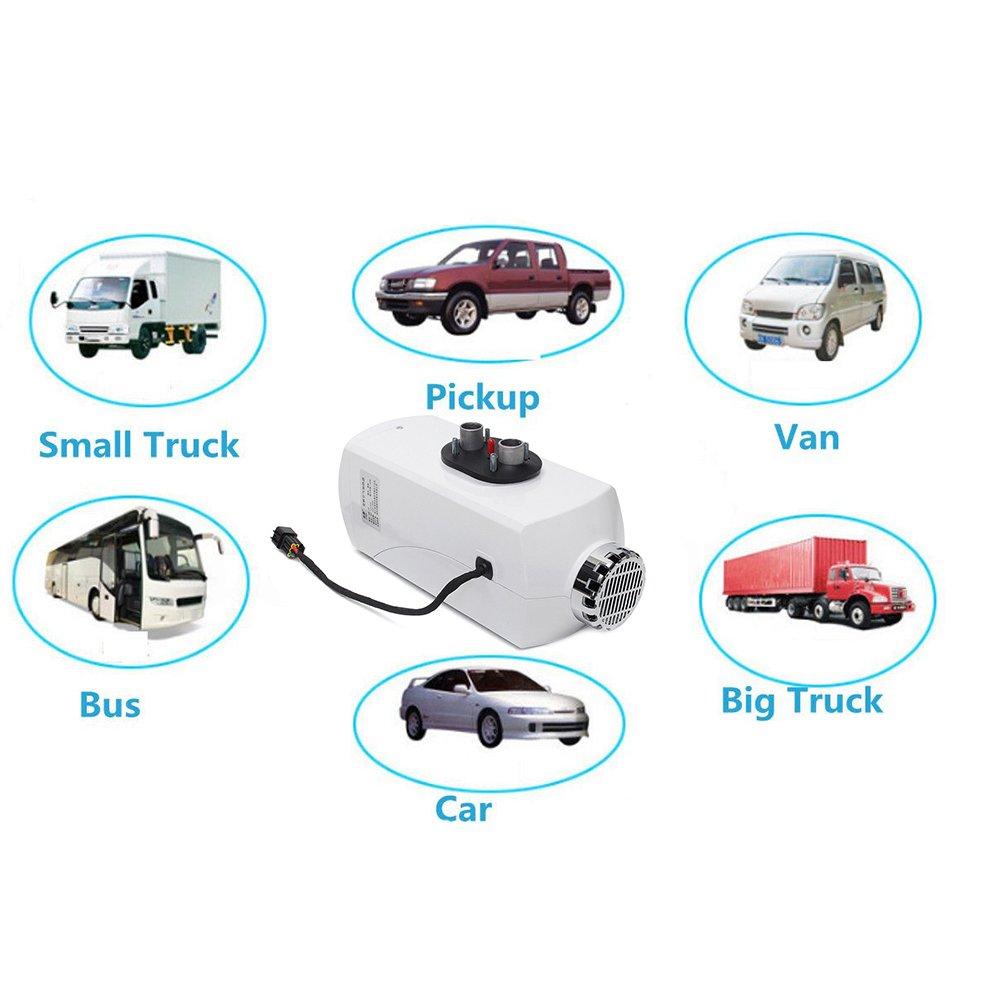 Gaeruite 5KW LCD Display Air Stand Calefacción fortruck Boot Van Front Camper, 12V / 24V 5000W Aluminum Alloy Housing Vehículo Fuel Heater para Furgonetas, ...