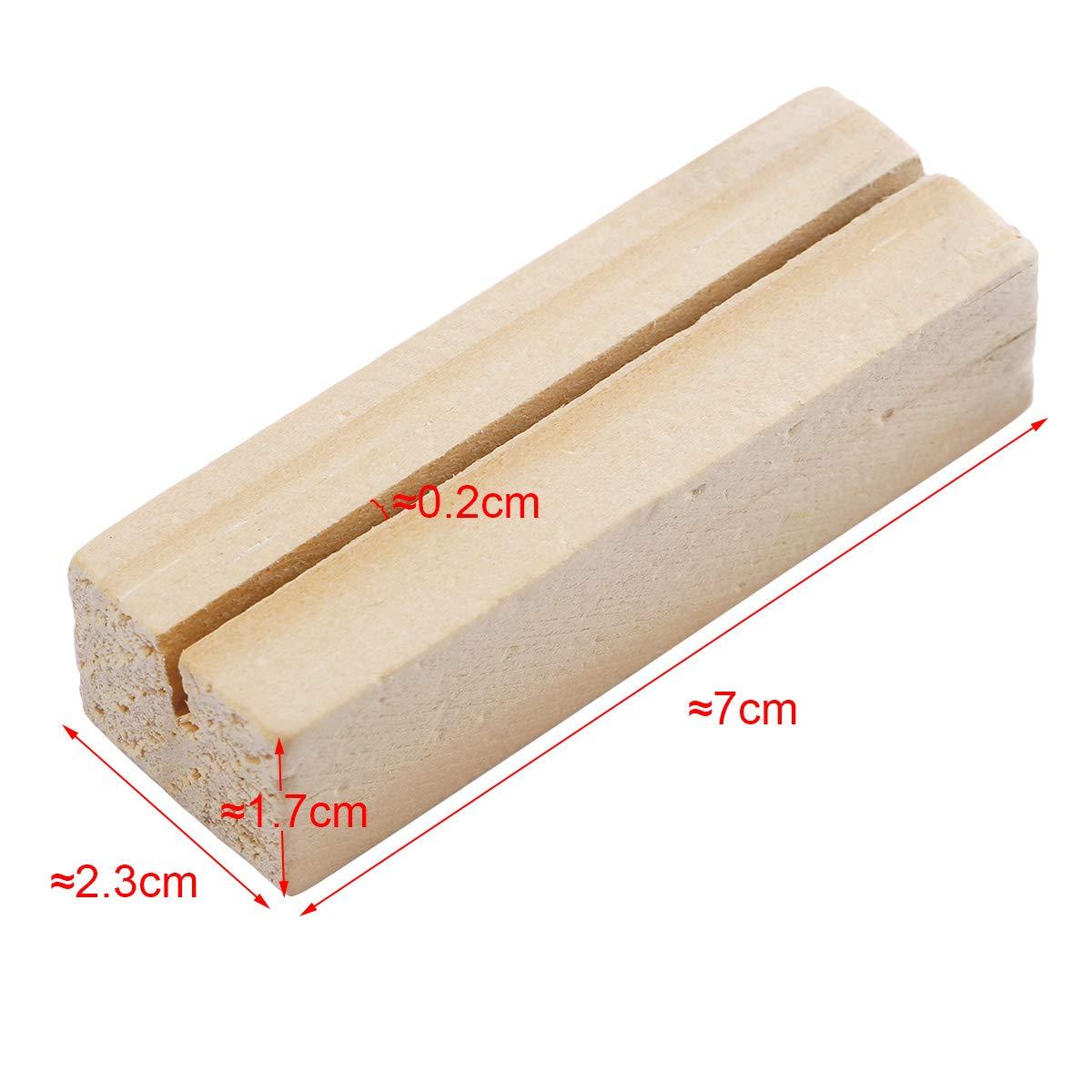 SurePromise Lot de 20 supports de nom de table en bois cr/éatif pour notes de place et m/émo pour cartes de mariage 3 x 3 x 3cm