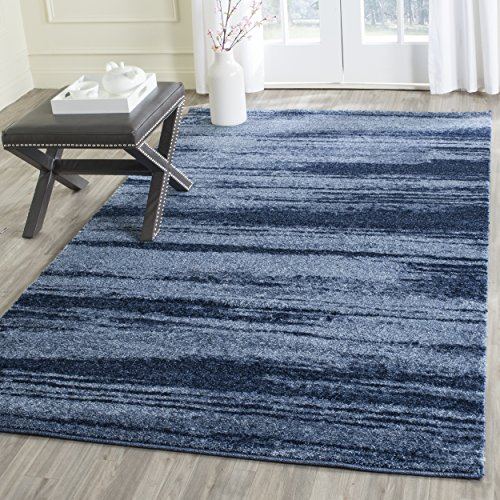- Safavieh Retro Collection RET2693-6065 Modern Abstract Light Blue and Blue Area Rug (4' x 6')