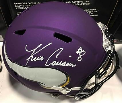 747fce4637bfa9 Image Unavailable. Image not available for. Color: Total Sports Enterprises Kirk  Cousins Signed Minnesota Vikings Full Size SPEED Helmet