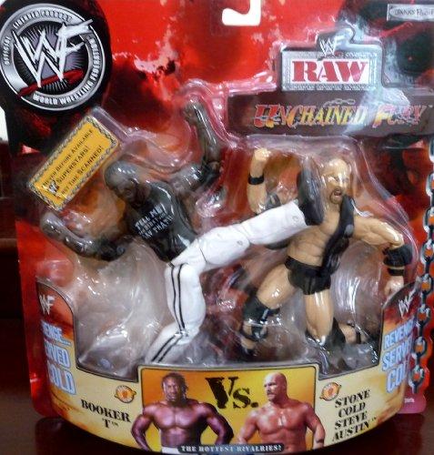 BOOKER T vs. STONE COLD STEVE AUSTIN WWE WWF Raw Unchained Fury Figures (Stone Cold Steve Austin Vs Booker T)