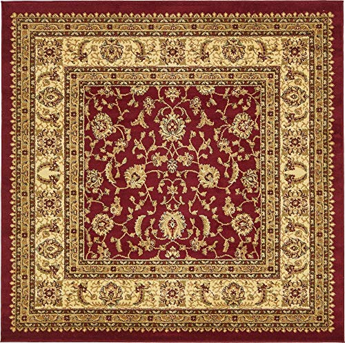 Unique Loom Voyage Collection Traditional Oriental Classic Red Square Rug (6' 0 x 6' ()