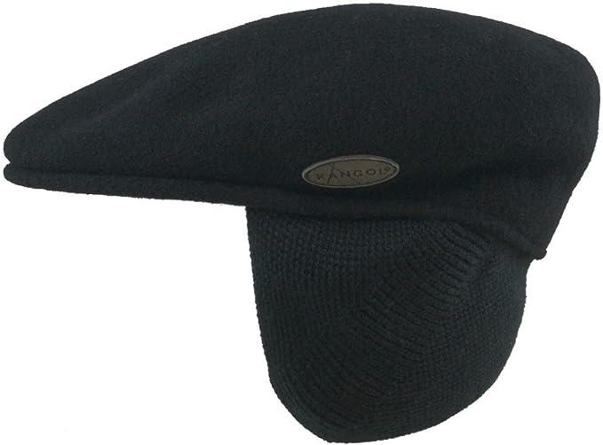 Kangol Flatcap 504 Cap schwarz Mütze Kappe Schiebermütze Schildmütze Schurwolle