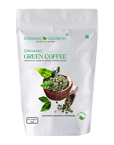 Buy Organic Growth Green Coffee Beans For Weight Loss 200gr 1