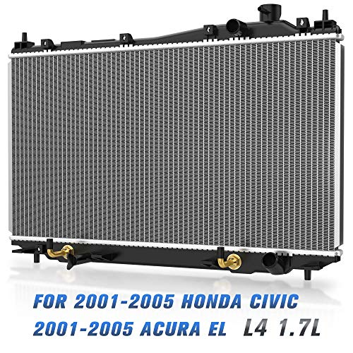 Honda 2003 Models - Complete Radiator for 2001 2002 2003 2004 2005 Honda Civic, 2001-2005 Acura EL L4 1.7L (Replacement Fits All 4 Speed Automatic Models & Specific for 2005 Civic with 5 Speed Manual) DWRD0003