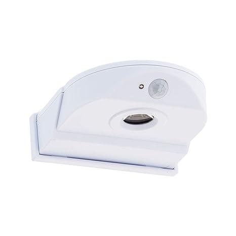SEBSON® LED Lámpara de exterior con detector de movimiento, funciona con baterías, sin