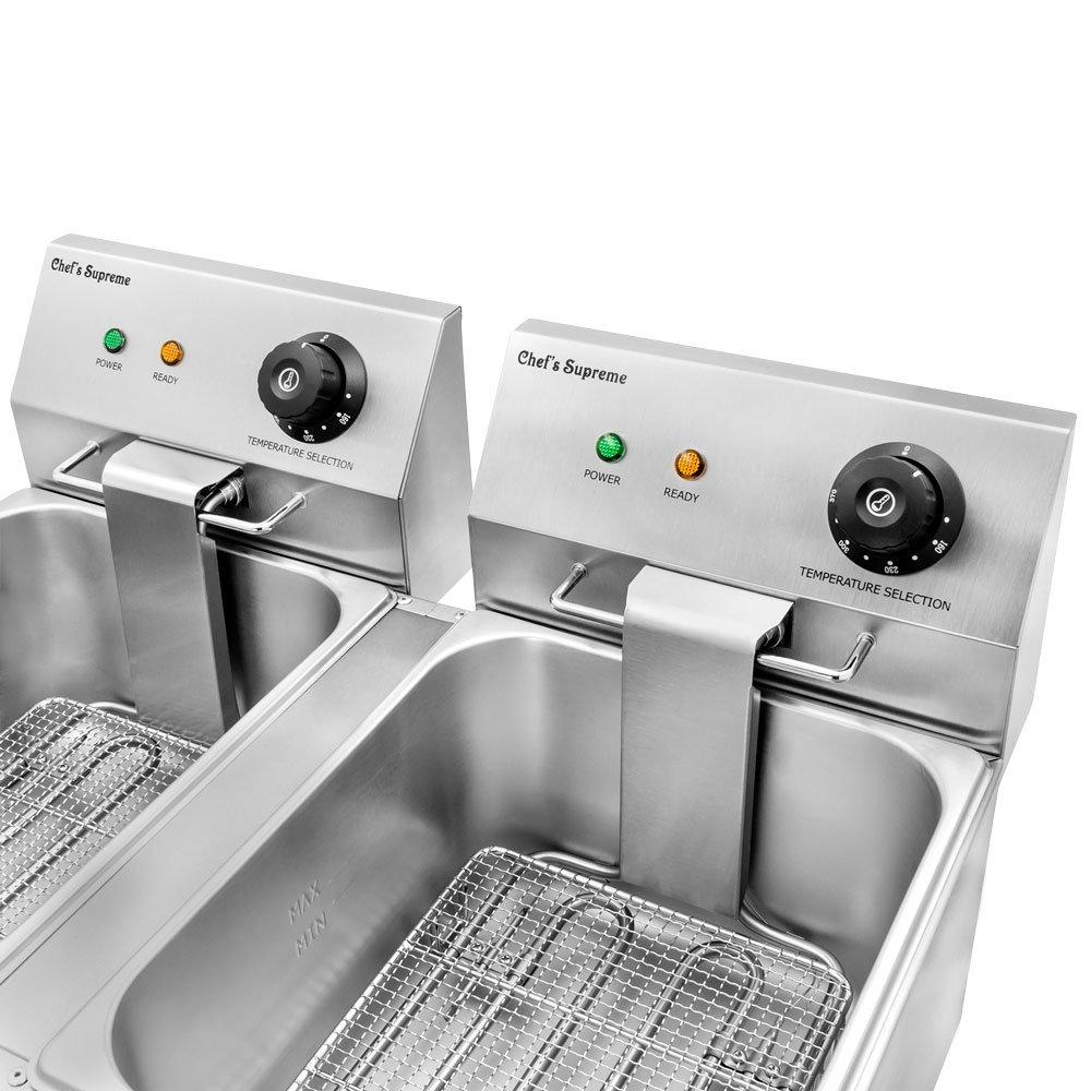 Amazon.com: Chef\'s Supreme - 220v 20 lbs. Countertop Fryer w/ 2 ...