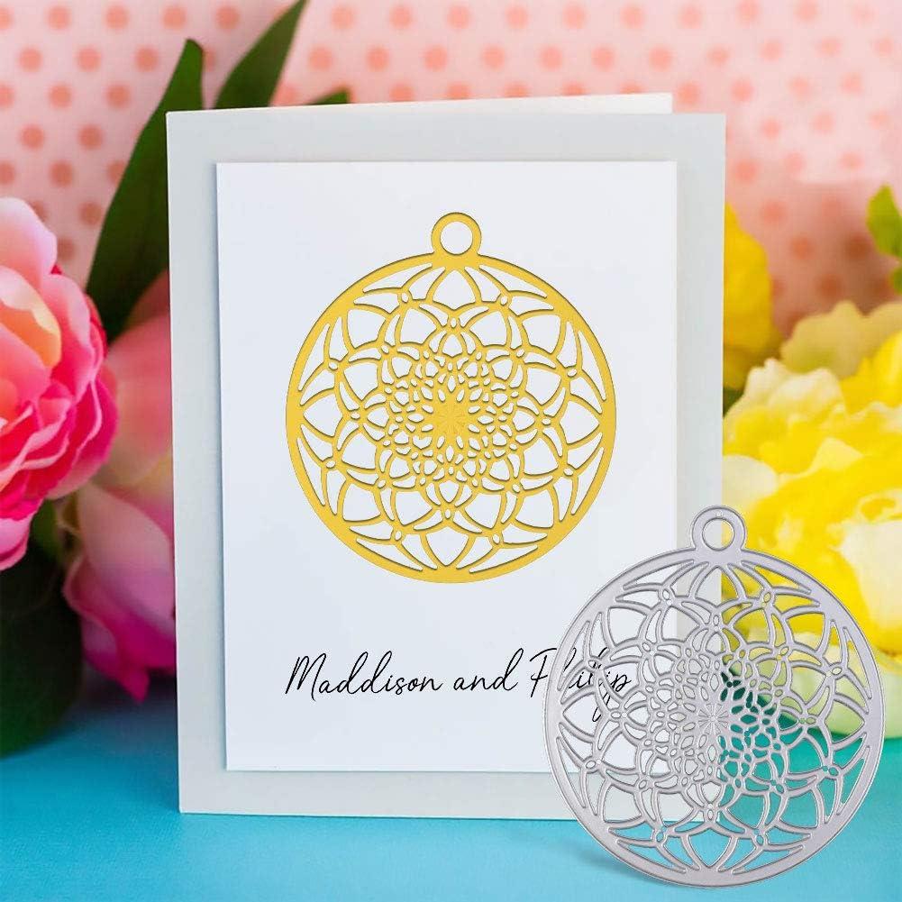 Flower Ball Die Cuts Metal Embossing Stencils for DIY OOTSR Dies for Card Making Metal Cutting Die Cuts Scrapbooking Dies Paper Card Craft Decorations Scrapbooking