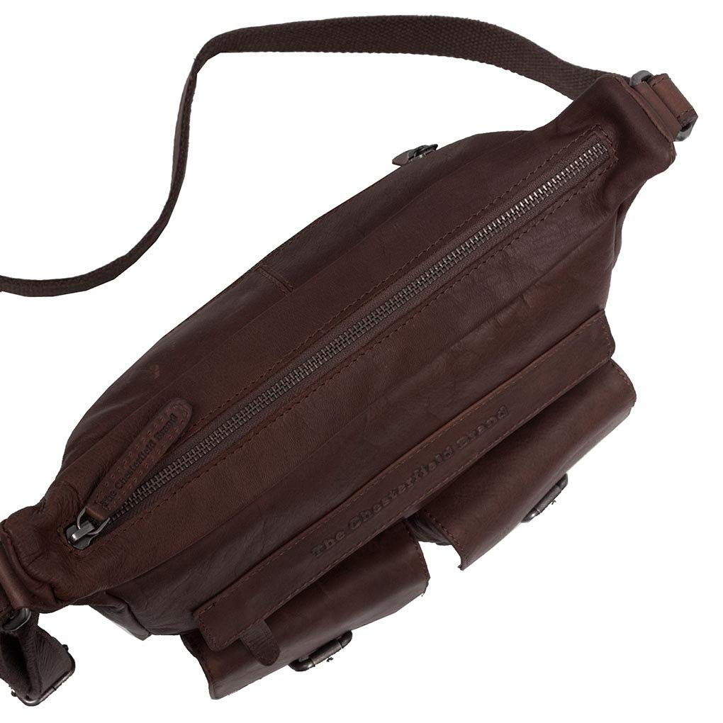 The Chesterfield märke Victoria axelväska läder 30 cm BRUN