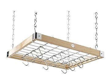 Hängeregal decke  Hahn Trading 40293 Decken-Hängeregal, quadratisch, naturholz ...
