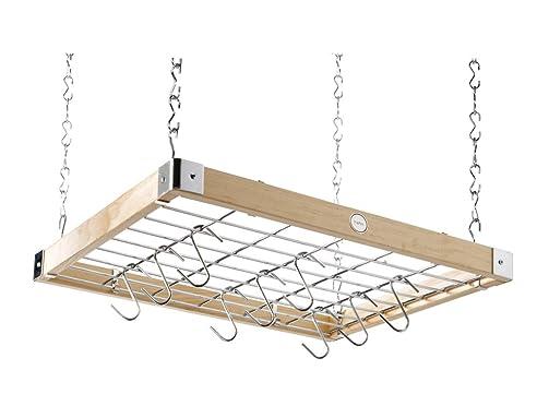 Hängeregal küche  Hahn Trading 40293 Decken-Hängeregal, quadratisch, naturholz ...