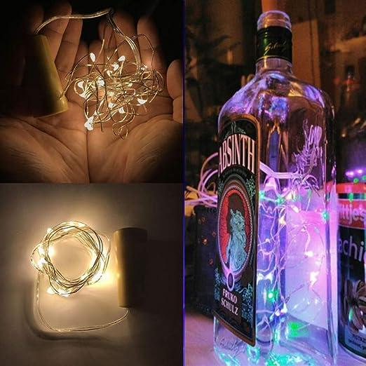 Guirnalda LED 2M Luces de Hadas de Corcho de Alambre de Cobre para ...