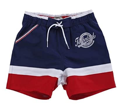 53a52b4ee7 Timberland Boys Red And Navy Swim Shorts (4 YEARS): Amazon.co.uk: Clothing
