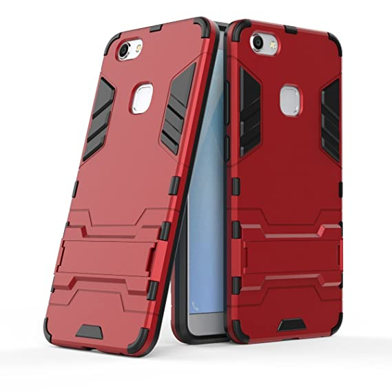 buy popular f6fa4 eb065 VIVO V7 Plus Case, SsHhUu Shock Proof Cover Dual Layer Hybrid Armor Combo  Protective Hard Case with Kickstand for VIVO V7 Plus 2017 / V7+ / Y79 ...