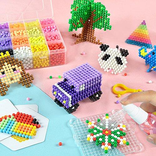 Aqua water beads Beginners Studio perler fusion Craft beads