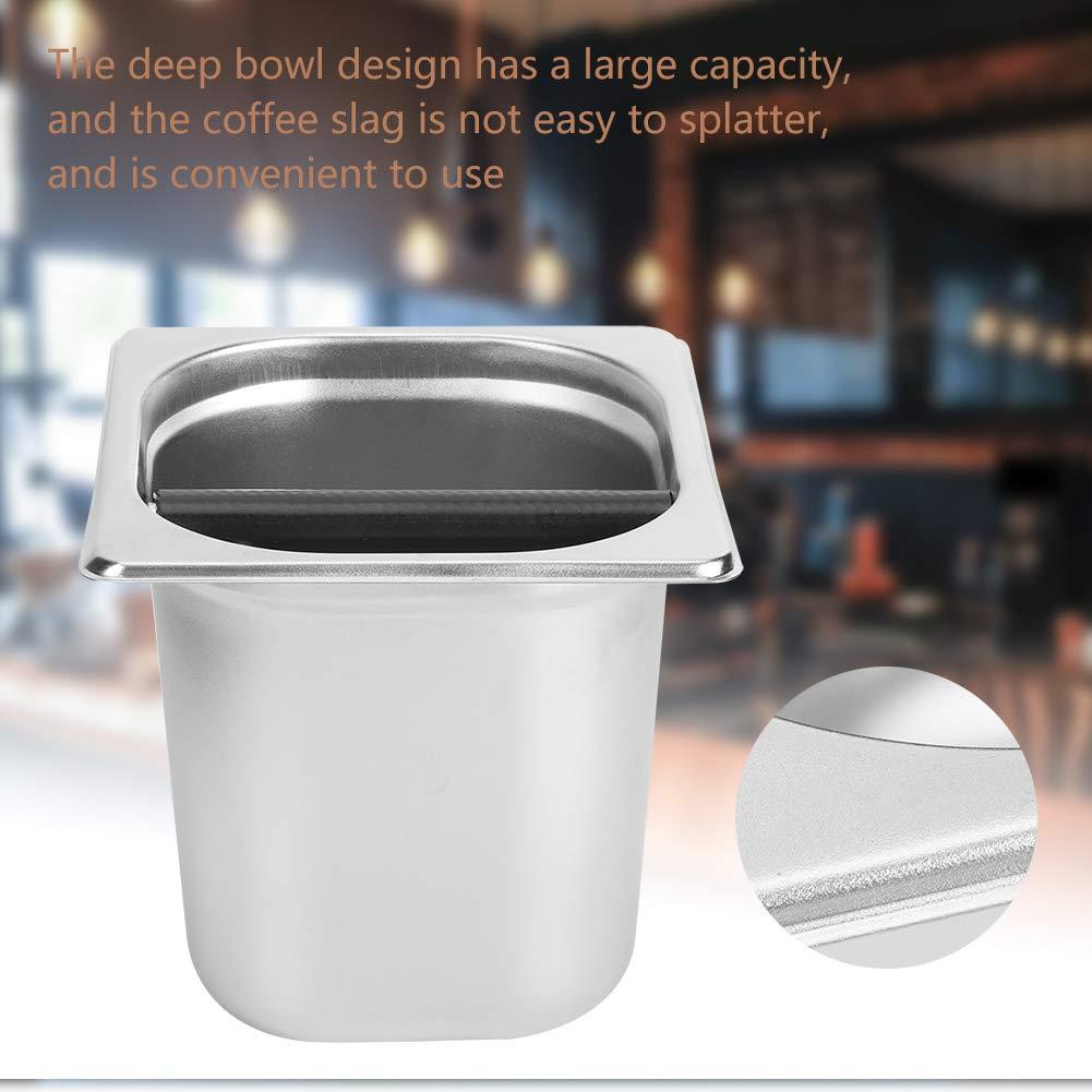 Household Coffee Machine Accessory Stainless Steel Coffee Grind Knock Box Coffee Knock Box