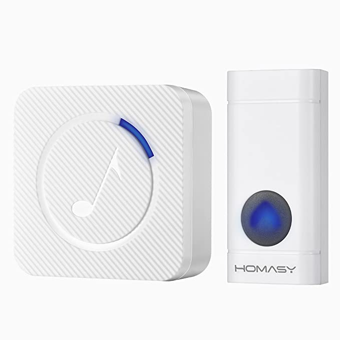 40 opinioni per VicTsing Campanello Senza Fili Wireless Impermeabile con Indicatori LED Blu, 52