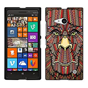 Nokia Lumia 730 Case, Snap On Cover by Trek Aztec Monkey Head Orange Case